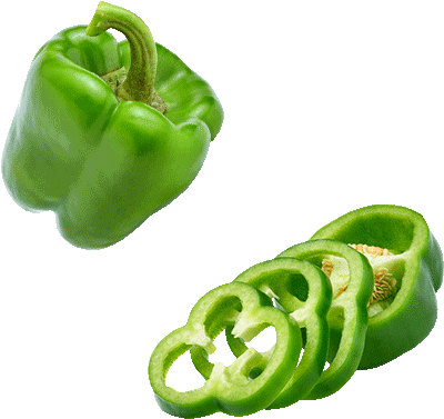 … green pepper -- Flavors